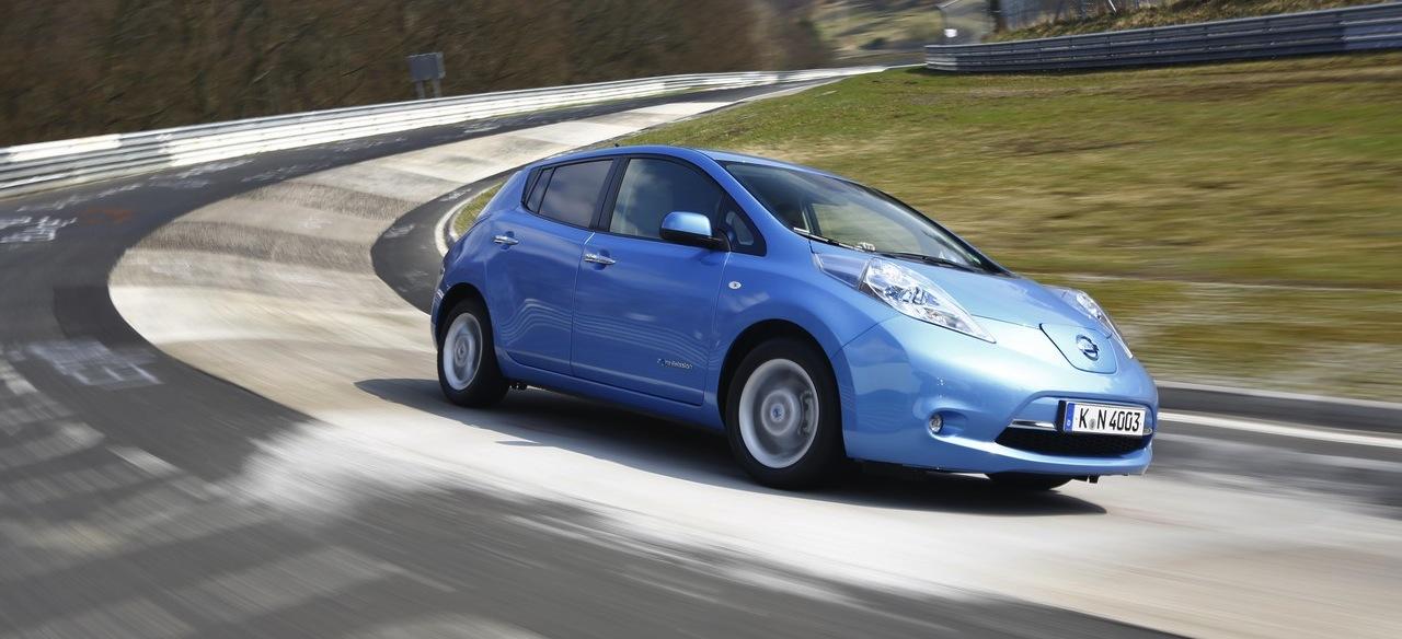 Der Nissan Leaf auf der Nordschleife