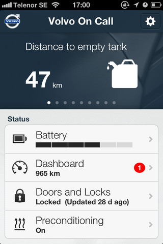 Volvo On Call-App