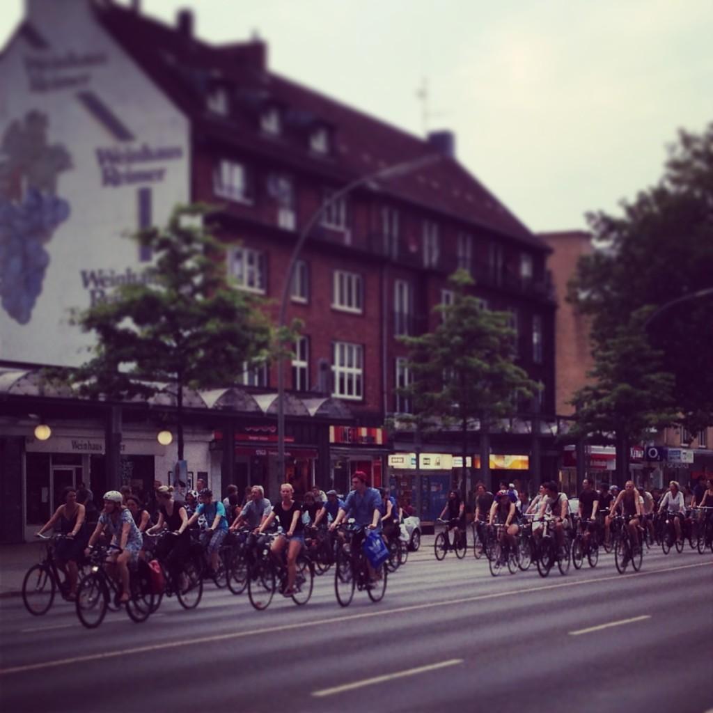 Critical Mass Hamburg Juli 2013 Wandsbek
