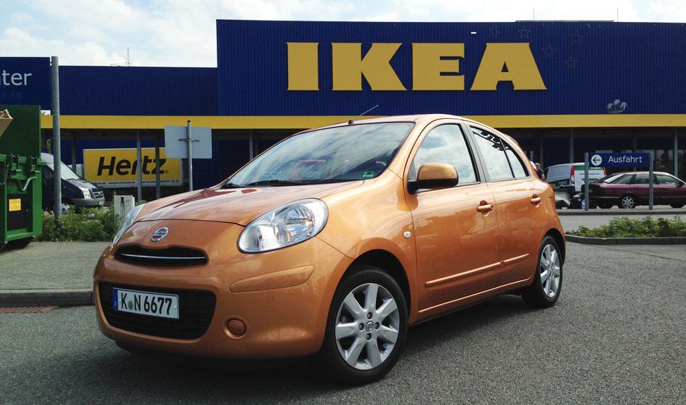 Nissan Micra Umzug IKEA